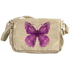 Awareness Butterfly Messenger Bag