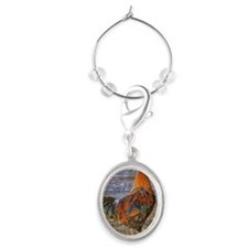 King of the roost Oval Wine Charm