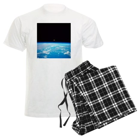 The earth and the moon viewed Men's Light Pajamas