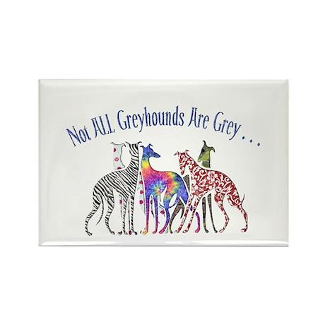 Greyhounds Not Grey Rectangle Magnet (100 pack)