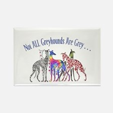 Greyhounds Not Grey Rectangle Magnet