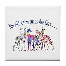 Greyhounds Not Grey Tile Coaster