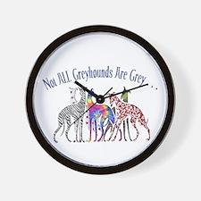 Greyhounds Not Grey Wall Clock