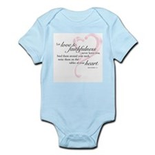 Proverbs 3:3 Infant Bodysuit
