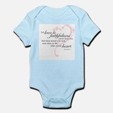 Proverbs 3:3 Infant Bodysuit