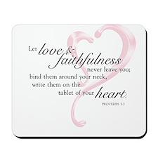 Proverbs 3:3 Mousepad