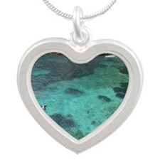 Mljet Island, Dubrovnik, Cro Silver Heart Necklace