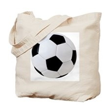 Soccer Ball with Clipping Path Tote Bag