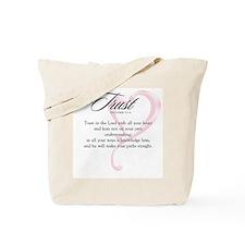 Proverbs 3:5-6 Tote Bag