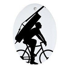 Double-Bass-On-Bicycle-01-a Oval Ornament