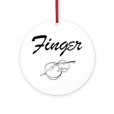 Finger-01-a Round Ornament