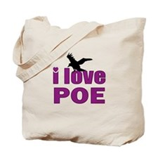 I Love Poe Tote Bag