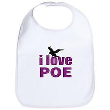 I Love Poe Bib