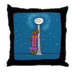 Dachshund Vamp Throw Pillow