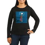 Dachshund Vamp Women's Long Sleeve Dark T-Shirt