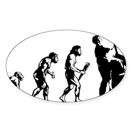 Evolution-Man-05-a Sticker (Oval)