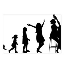 Evolution-Woman-02-a Postcards (Package of 8)