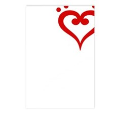 I-Heart-Double-Bass-01-b Postcards (Package of 8)