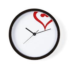 I-Heart-Double-Bass-01-b Wall Clock