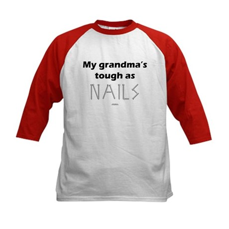 Grandma's tough as nails Kids Baseball Jersey