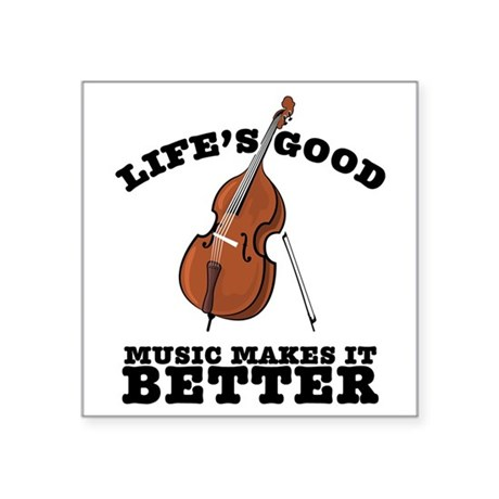 "Lifes-Good-01 Square Sticker 3"" x 3"""