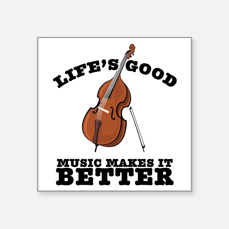 "Lifes-Good-01 Square Sticker 3"" x 3"""
