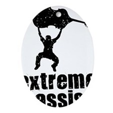Extreme-Bassist-01-a Oval Ornament