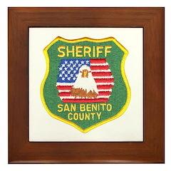 San Benito Sheriff Framed Tile