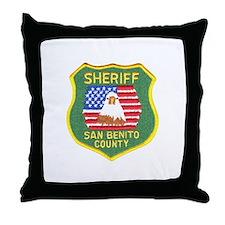 San Benito Sheriff Throw Pillow