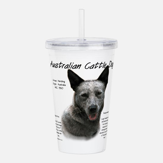 Cattle Dog (blue) Acrylic Double-wall Tumbler