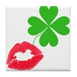 Irish Kiss Tile Coaster