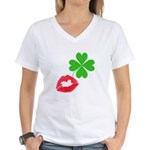 Irish Kiss Women's V-Neck T-Shirt
