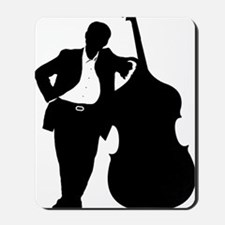 Man-With-Double-Bass-01-a Mousepad