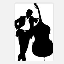 Man-With-Double-Bass-01-a Postcards (Package of 8)