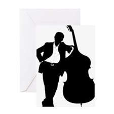 Man-With-Double-Bass-01-a Greeting Card