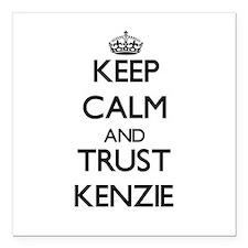 "Keep Calm and trust Kenzie Square Car Magnet 3"" x"