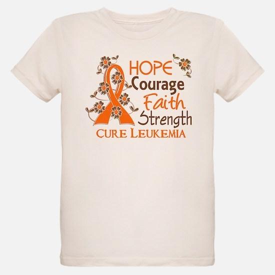 Hope Courage Faith 3 Leukemia T-Shirt