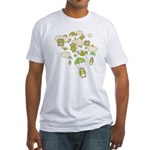 Skydiving Hamsters Fitted T-Shirt