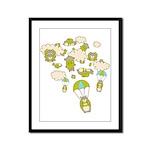 Skydiving Hamsters Framed Panel Print