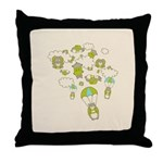 Skydiving Hamsters Throw Pillow