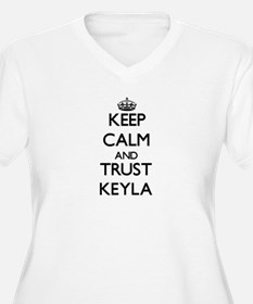 Keep Calm and trust Keyla Plus Size T-Shirt