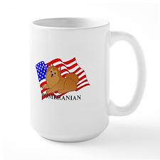 Pomeranian USA Mug