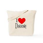 I Love Dostoevsky Tote Bag