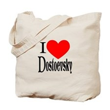 I Love Dostoevsky Tote Bag