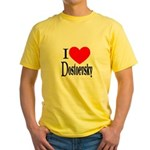 I Love Dostoevsky Yellow T-Shirt