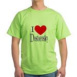 I Love Dostoevsky Green T-Shirt
