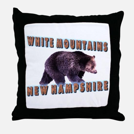 White Mountains , New Hampshi Throw Pillow