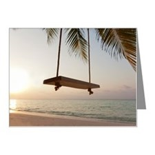 Swing on a beach at sunset Note Cards (Pk of 10)