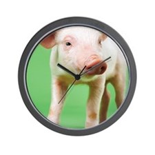 Studio Cut Out of a Piglet Standing Wall Clock