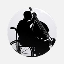 Special-Bassist-01-a Round Ornament
